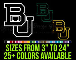Baylor Decal Etsy