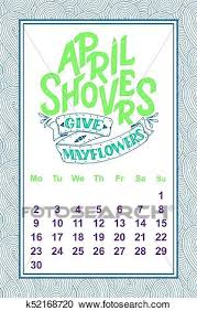 vector calendar for month hand drawn lettering quote for