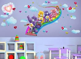 Care Bears Rainbow Bike Nursery Room Wall Decals Small Baby Room Boys Room Diy