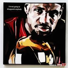 Lebron James Canvas Quotes Wall Decals Photo Painting Framed Pop Art Poster Nba Image On Imged