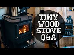 tiny wood stove in a tiny house the