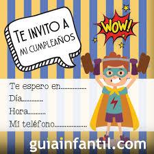 Invitacion De Cumpleanos Con Dibujos De Superheroes
