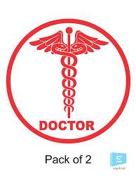 Doctor Professional Logo Sticker Vinyl Decal For Car Bike Pack Of 2 Sign Ever Online Sticker Market