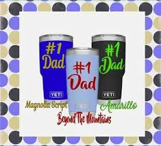 Dad Vinyl Monogram Decal 1 Dad For Your Cup Tumbler Low Ball Dads Gift Sticker Ebay