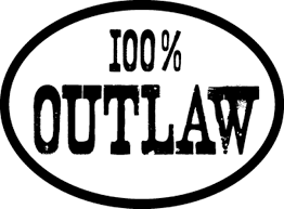 100 Outlaw Reflective Vinyl Decal Sticker