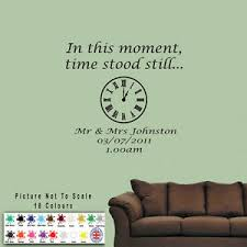In This Moment Time Stood Still Wall Art Wall Sticker Wall Quote Decal Ebay