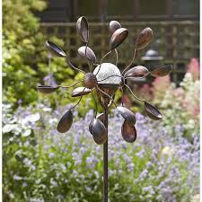 solar wind spinner garden art the