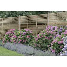Forest Garden Slatted Fence Panel 6 X 6