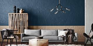 a splash of deep blue paint for your