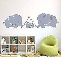 Cute Elephant Family Wall Decals Sticker For Kid Room Decor Hearts Baby Nursery Ebay