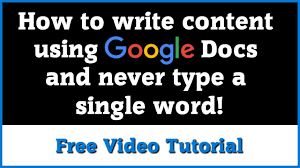 Google Voice Typing Tutorial - YouTube