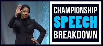 Speech Breakdown: 2018 Champion of Public Speaking Ramona J. Smith