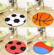 Black White Football Basketball Volleyball Round Carpet Kids Room Children Boys Sport Room Area Rugs Chair Mat Cushion 80cm 90cm Room Area Rugs Area Ruground Carpet Aliexpress
