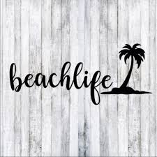 Hand Crafted Other Beach Life Palm Tree Car Window Decal Poshmark