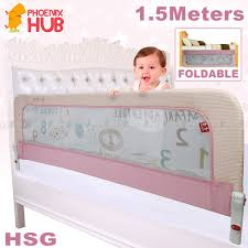 Phoenix Hub Hsg 1 5 Meters Baby Bed Guard Infant Bedside Foldable Safe Protective Barrier Bed Fence Shopee Philippines