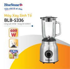 Máy xay sinh tố BlueStone BLB-5336 - Công suất 600W - Cối thủy tinh 1L xay  được đá - 3 chế độ xay - 6 lưỡi căt - - Bảo hành 24 tháng - Hàng Chính Hãng