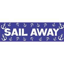 10in X 3in Sail Away Cruise Ship Sports Bumper Sticker Vinyl Window Decal Walmart Com Walmart Com