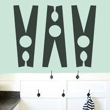 Shop Clothespins Set Laundry Room Wall Decals Large Overstock 10825947