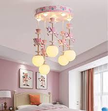 Amazon Com Dubaobao Kids Bedroom Ceiling Light Creative Modern Semi Flush Ceiling Light Led Ceiling Lamp Pendant Lighting In For Children S Room Boys Room Easy To Install Height Adjustable Pink Home Kitchen
