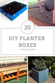 20 diy planter boxes free plans