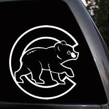 Chicago Cubs Bear Logo Baseball Car Truck Window Laptop Wall Vinyl Decal Sticker Ebay
