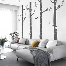 Vinyl Large Birch Tree With Bird Wall Stickers Decals For Living Room Bedroom Nursery Kids Room Wall Decor Wish
