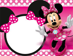 Invitacion De Minnie Mouse Con Imagenes Invitaciones Minnie