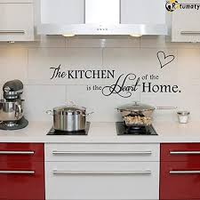 Amazon Com Rotumaty The Kitchen Quote Wall Stickers Kitchen Dining Room Wall Decal Vinyl Home Decor Size A Kitchen Dining