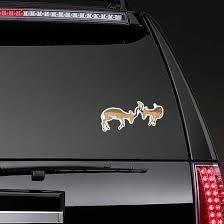 African Antelope Fighting Sticker