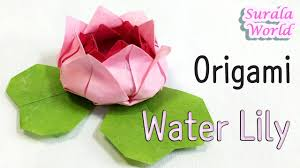 origami water lily flower