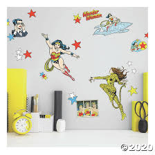 Wonder Woman Cartoon Peel And Stick Wall Decals Oriental Trading