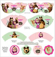 Kit Imprimible Promo 3x1 Masha Y El Oso Invitaciones 89 00 En