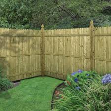 Barrette 6 Ft H X 8 Ft W Pressure Treated 4 In Dog Ear Fence Panel 73000473 The Home Depot