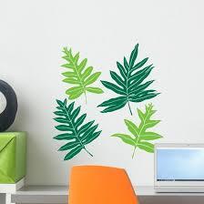 Hawaiian Ferns Wall Stickers Wallmonkeys Com