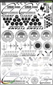 Metal Stickers For Hg Mg Ae Ms Titans Gundam Easy Decal 2720 2