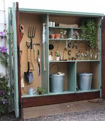 organize a mini garden storage shed