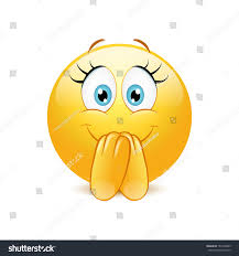 Excited Emoticon On White Background Stock Vector (Royalty Free) 181430489
