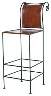 leather and iron bar stool