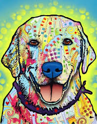 Pin by Effie Wagner on Dean Russo | Pop art animals, Dog paintings, Dog art