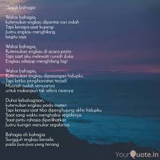 sajak bahagia wahai bah quotes writings by irfan prikes