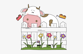 Cattle Clipart Farm Fence Behind Of Clipart Free Transparent Png Download Pngkey