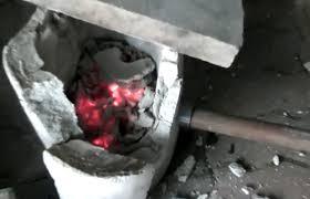 homemade backyard foundry furnace torch