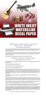 Waterslide Decal Paper Inkjet White 8 5 X 11 10 Sheet 1 Waterslide Decal Paper Inkjet Waterslide Decal Paper Decal Paper