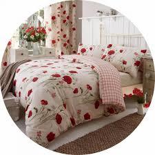 catherine lansfield wild poppies duvet