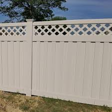 Weatherables Clearwater 6 Ft H X 6 Ft W Tan Vinyl Privacy Fence Panel Kit Ptpr Panellat 6x6 The Hom Vinyl Privacy Fence Privacy Fence Panels Fence Panels