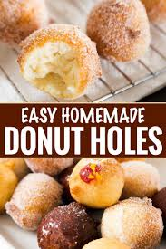 easy homemade donut holes the chunky chef