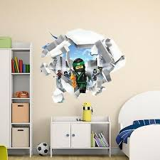 The Lego Ninjago Movie 3d Broken Wall Decal Cracked Hole Vinyl Home Decor Cg777 18 00 Picclick