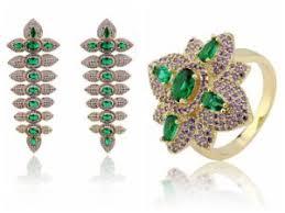 china micro pave brazilian gold jewelry