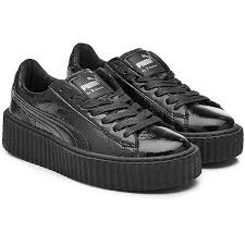 rihanna patent leather creeper sneakers