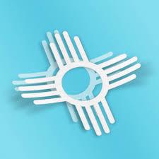 New Mexico Symbol Window White Vinyl Decal Sticker 4
